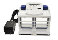 Compact gel electrophoresis system with a built-in power supply